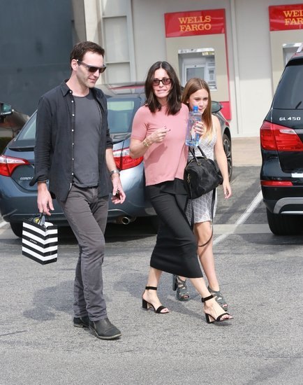 Courteney Cox and Johnny McDaid seen together over Easter Weekend with her daughter, Coco