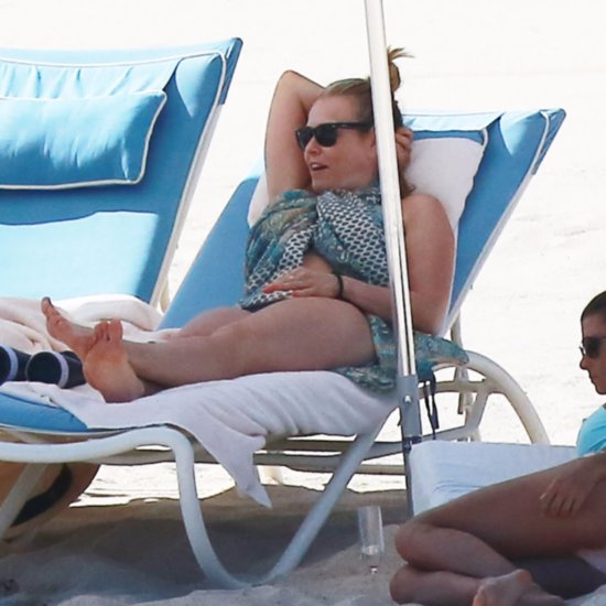Chelsea Handler Wears Underwear on Beach March 2016