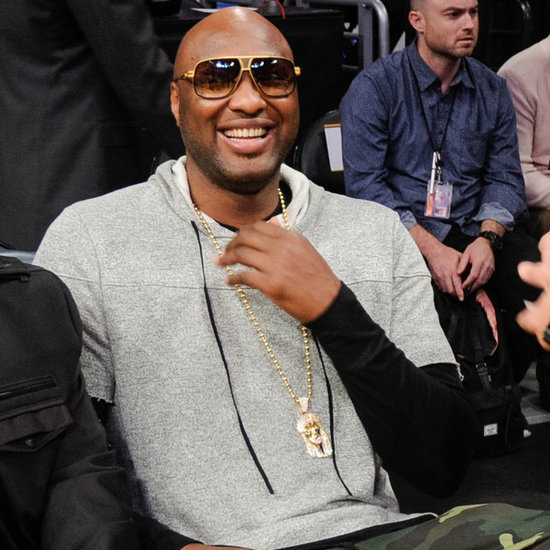 Lamar Odom at Lakers Game Pictures March 2016