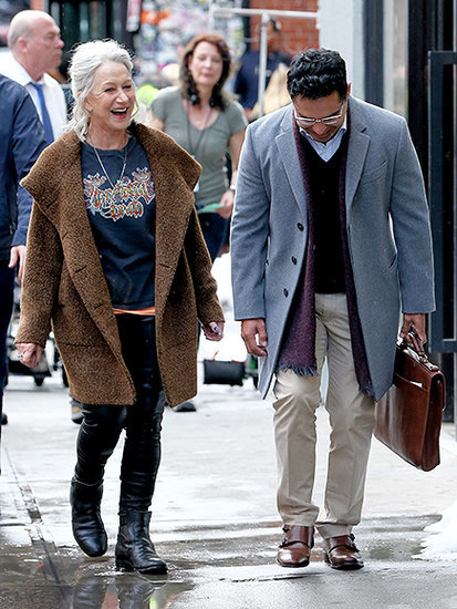 Helen Mirren, 70, Goes Full Rocker on Film Set, Complete with Grateful Dead Tee - and Still Looks Fabulous