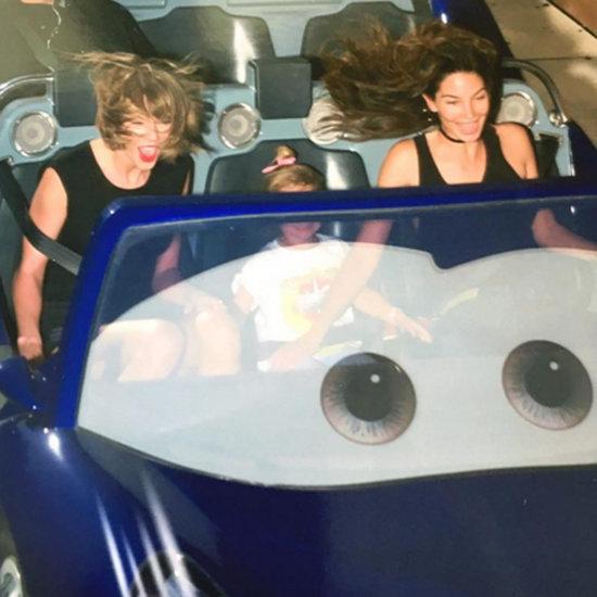 Taylor Swift and Lily Aldridge at Disneyland April 2016