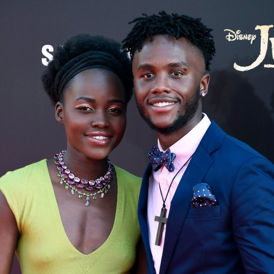 Lupita Nyong'o and Brother at The Jungle Book Premiere