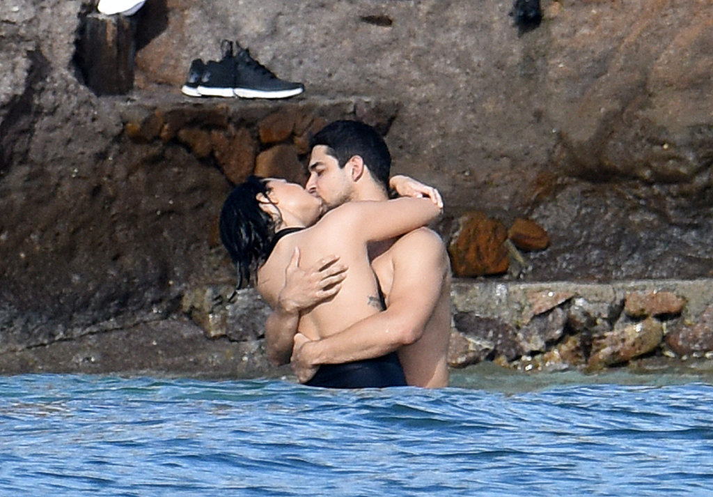 Demi Lovato and Wilmer Valderrama got hot and heavy in the ocean during a trip to St. Barts in December 2015.