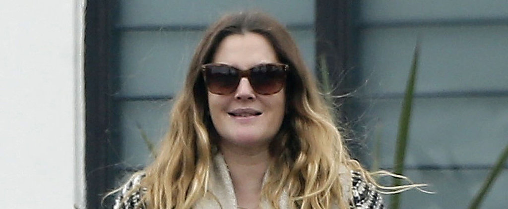 Drew Barrymore Wears Her Wedding Ring While Out on a Stroll With a Friend