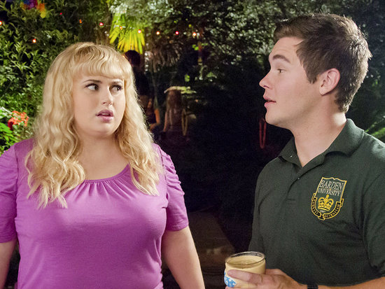 Pitch Perfect 2 Costars Adam DeVine and Rebel Wilson Win the Coveted Best Kiss Award at MTV Movie Awards