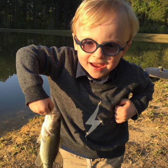 Chris Pratt and Son Fishing on Instagram April 2016