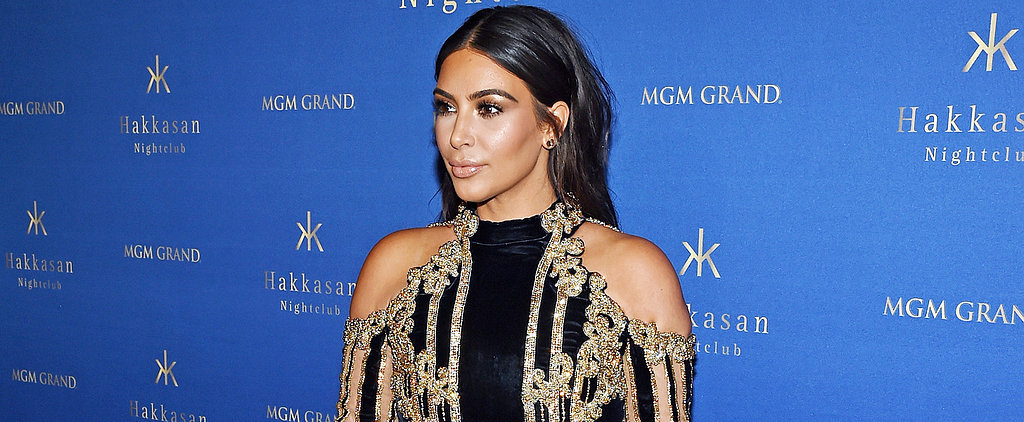 Kim Kardashian's Over-the-Top Dress Isn't Your Typical Vegas Look