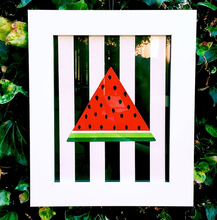 How to DIY Your Very Own Summer-Inspired Watermelon Wall Art