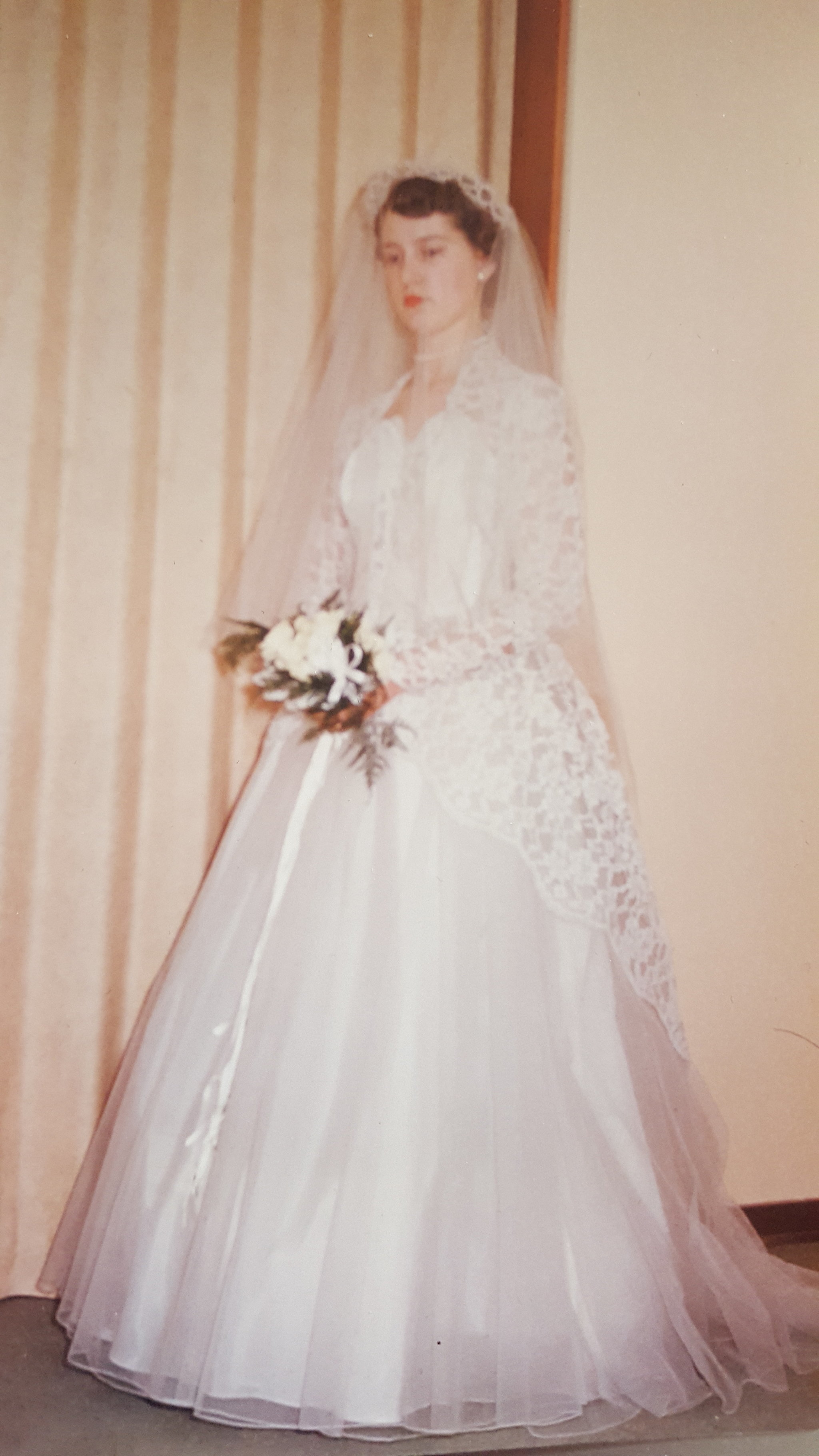 Wedding Dresses For Grandma : Grandmother phyllis in the dress this bride wore same wedding
