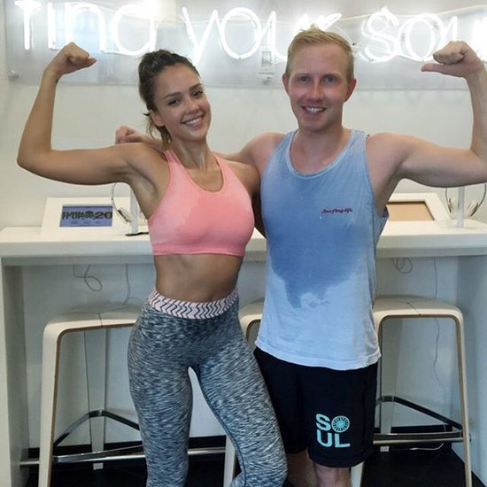Jessica Alba Sweaty After SoulCycle Instagram