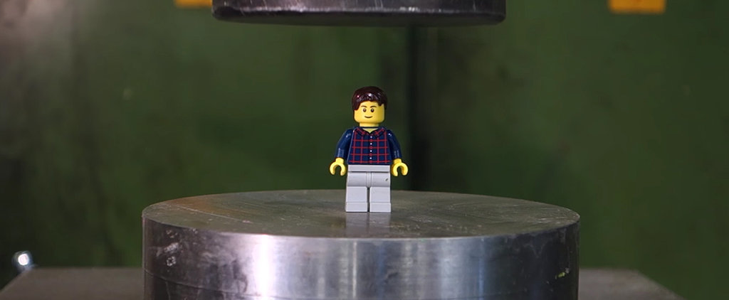 Watching Legos Get Crushed by a Hydraulic Press Is Exactly What You Need Today