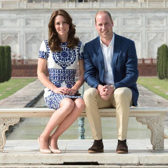 Duke and Duchess of Cambridge at the Taj Mahal 2016