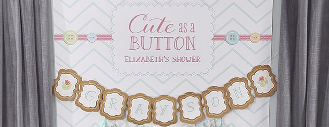 """This """"Cute as a Button"""" Baby Shower Totally Lives Up to Its Name"""