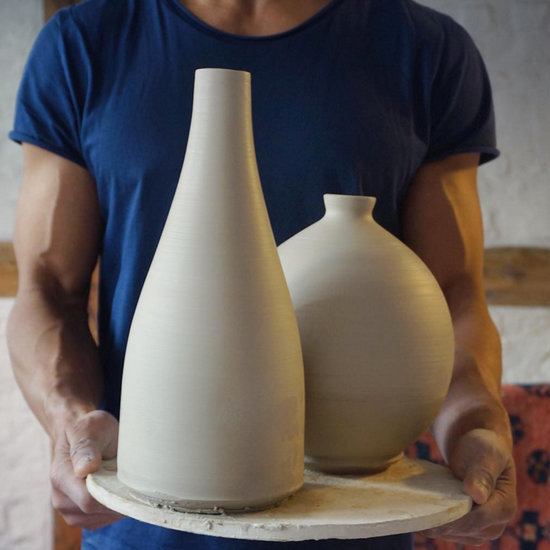 Hot Man Making Pottery (Video)