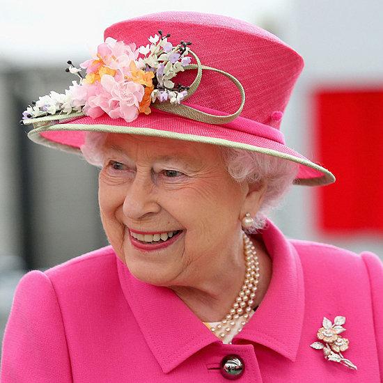 Queen Elizabeth Pink Coat April 2016