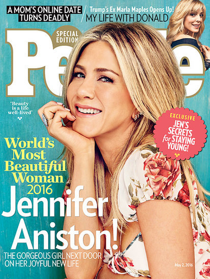 Jennifer Aniston is PEOPLE Magazine's World's Most Beautiful Woman 2016