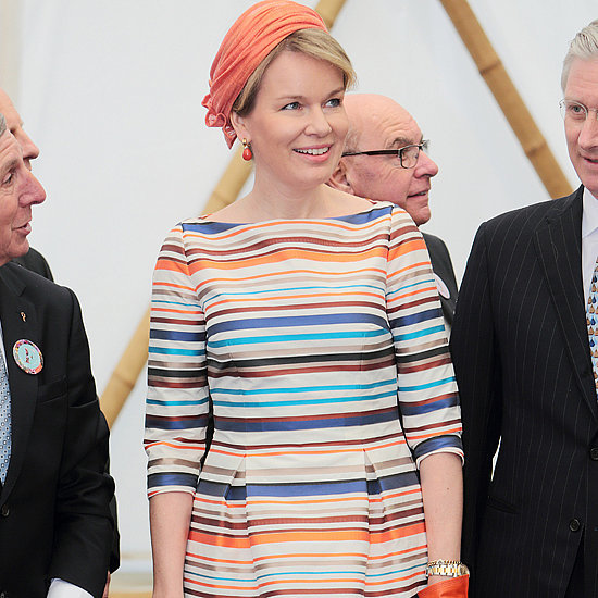 Queen Mathilde of Belgium Natan Dress April 2016