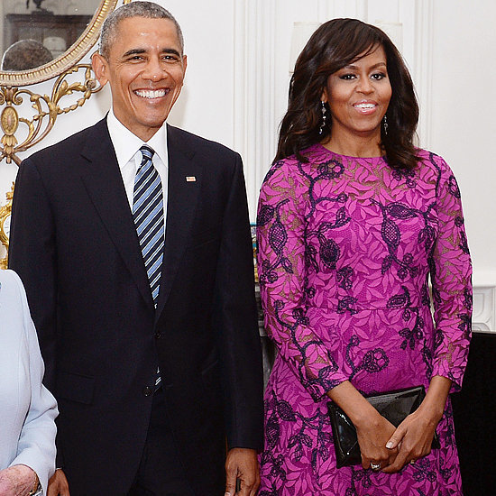 Michelle Obama Oscar de la Renta Dress in London April 2016