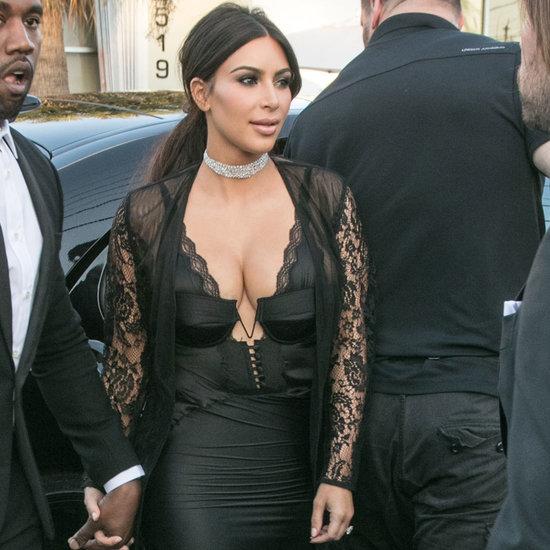 Kim Kardashian's Dress at Grutman Wedding in Miami