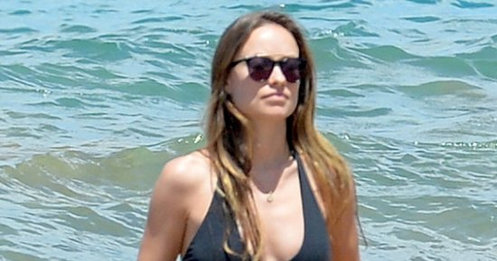 Pregnant Olivia Wilde Shows Off Belly in Black Bikini — See Her Baby Bump!