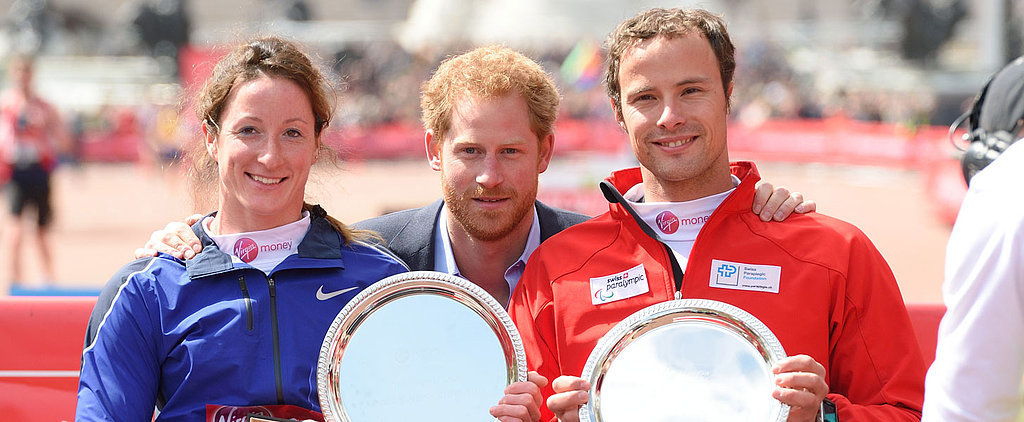 Prince Harry's Handsome Appearance at the London Marathon Will Make You Want to Run 26.2 Miles