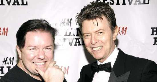 Ricky Gervais: My Friend David Bowie Kept His Cancer Secret From Everyone