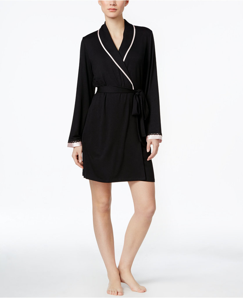 Let Mom unwind in style with this chic robe. Morgan Taylor Satin-Trim Lightweight Robe ($35)