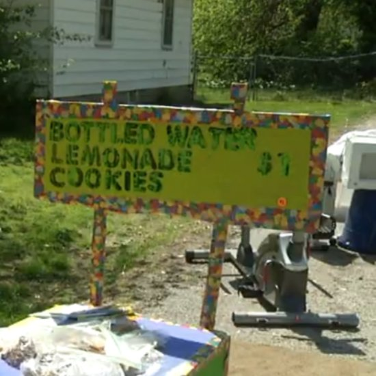 Boy Sells Lemonade to Raise Money For His Own Adoption