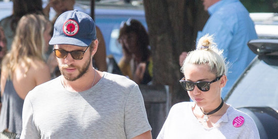 Miley Cyrus Wears Her Engagement Ring Out With Liam Hemsworth