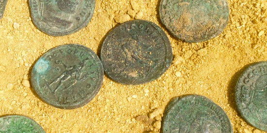 Construction Workers In Spain Find 1,300 Pounds Of Ancient Roman Coins