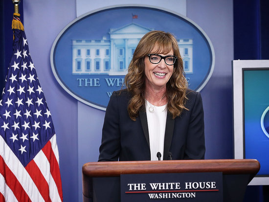 Allison Janney Brings C.J. Cregg Back to the West Wing Podium, Wins #FlashbackFriday