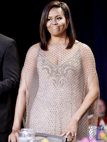 Michelle Obama Goes for the Gold at Final White House Correspondents' Dinner as First Lady