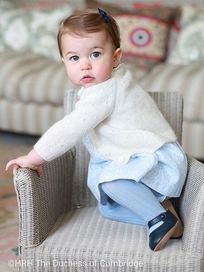 Where To Get Princess Charlotte's Perfect First Birthday Portrait Ensembles - and that Adorable Walker!