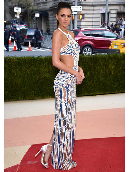 Versace Vixen! Kendall Jenner Wears Completely Sheer Cutout Gown to the Met Gala