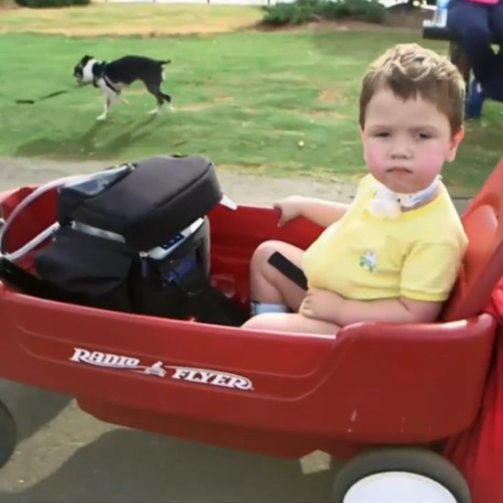 Grandfather Adapts Red Wagons For Sick Children