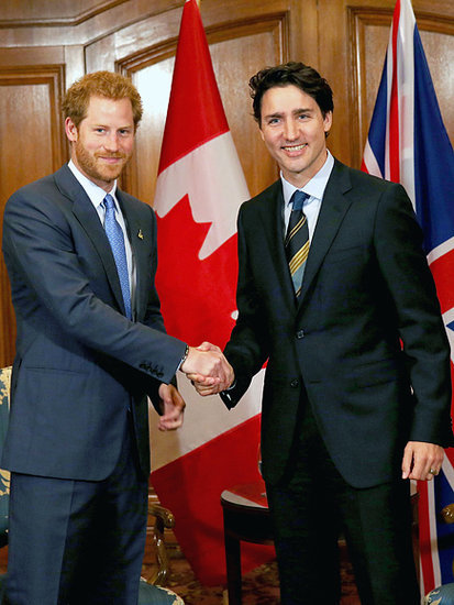 Swoon-Worthy Summit! Prince Harry Meets Canadian Prime Minister Justin Trudeau
