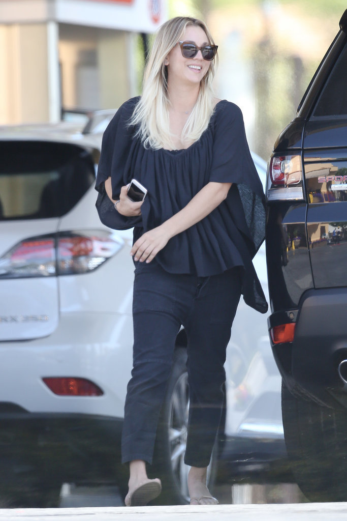 Kaley Cuoco Steals a Kiss During an Outing With Her Boyfriend in LA
