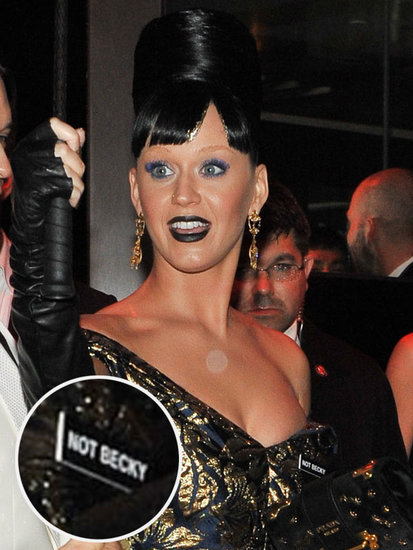 Katy Perry Wears 'Not Becky' Pin to the Met Gala Afterparty (Beyoncé Fans, Cross Her Off the List)