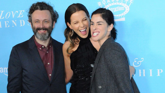 Kate Beckinsale, Ex Michael Sheen, and His Current Girlfriend Sarah Silverman Ecstatically Pose Together on the Red Carpet