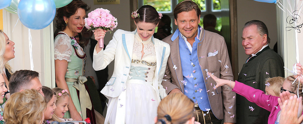 This German Actress Shows Us How to Jazz Up a Traditional Wedding Look