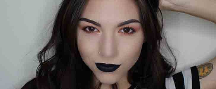This Is What Jet-Black Lipstick Looks Like on Multiple Skin Tones