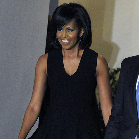 Michelle Obama's Black Zipper Dress May 2016