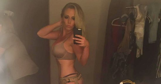 Kendra Wilkinson Poses in a Bra and Harness for Music Video: 'Forgot I'm a Mom'