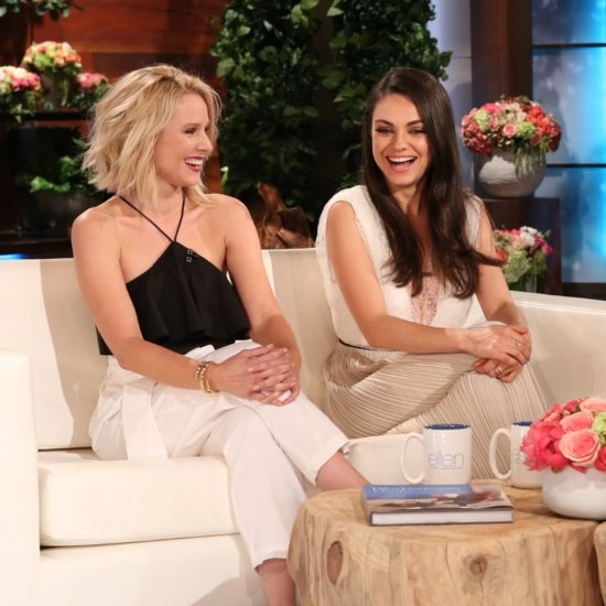 Mila Kunis Kristen Bell on The Ellen DeGeneres Show May 2016