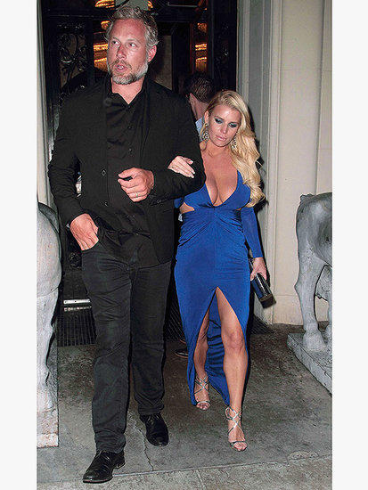 Jessica Simpson Just Wore Her Most Daringly Low-Cut Date Night Look Yet