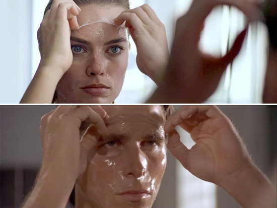 Margot Robbie's American Psycho Face Mask Peel Could Use Some Practice