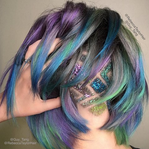 Glitter Undercut Hair Tattoo