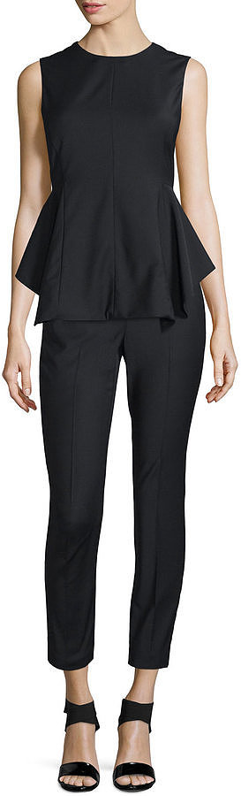 Theory Kalsing Cl. Continuous Peplum Top, Black ($265)