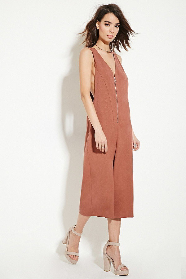 Forever 21 Contemporary Textured Culottes Jumpsuit ($33)