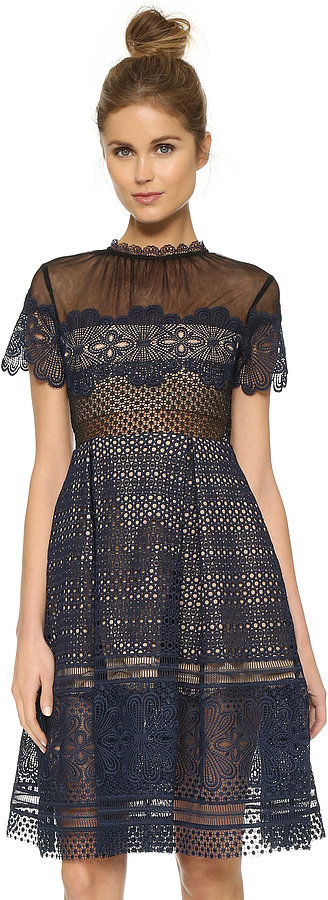 Self-Portrait Self Portrait Felicia Embroidered Dress ($530)